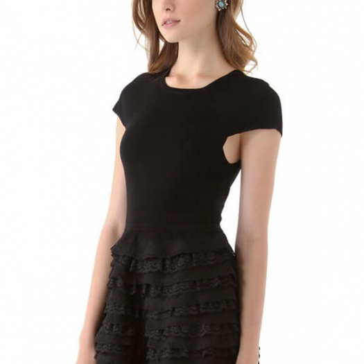 Saxonette Black Dress